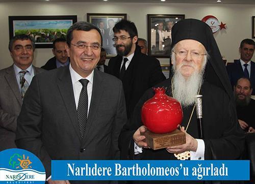 Narlıdere Bartholomeos'u ağırladı